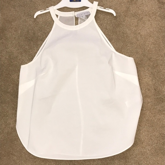 1 State Tops 1 State Off White Tank Top With Sheer Back Poshmark